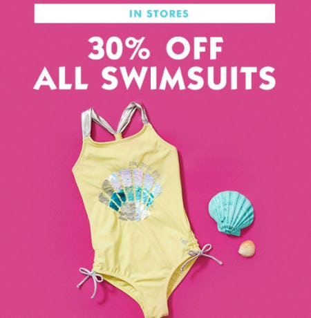 b5e23f7729 30% Off All Swimsuits at Justice