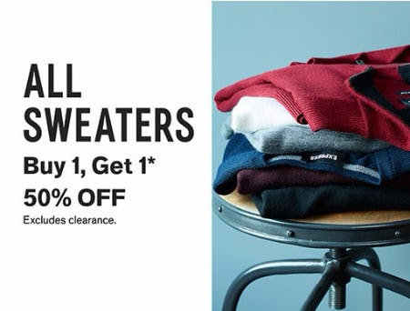 Buy 1, Get 1 50% Off All Sweaters