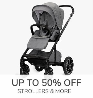 Up to 50% Off Strollers & More