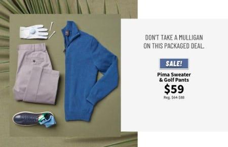 Pima Sweater & Golf Pants $59