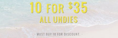 10 for $35 All Undies from Aerie