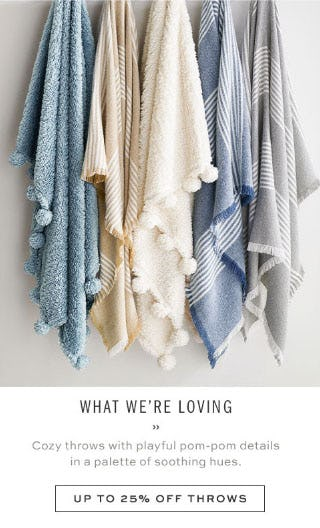 Up to 25% Off Throws from Pottery Barn
