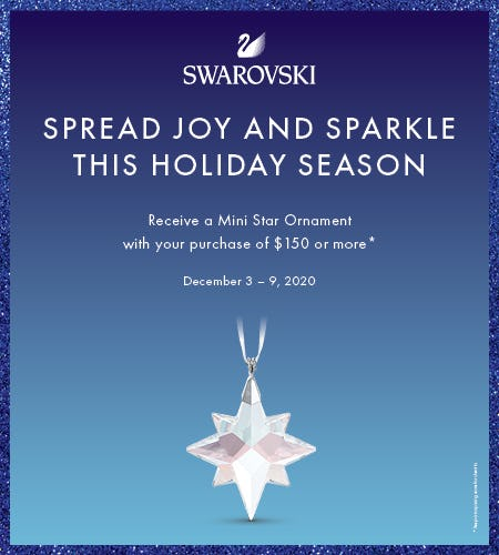 Swarovski Sparkling Mini Gift Ornament!