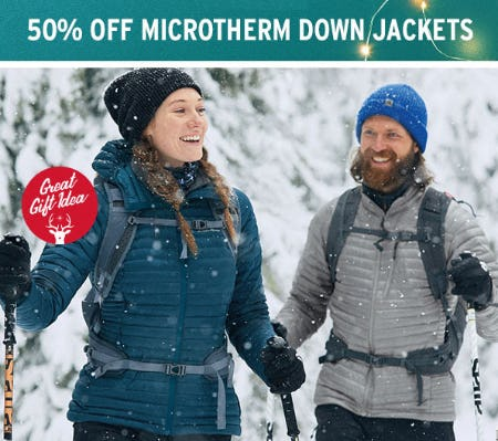 50% Off Microtherm Down Jackets from Eddie Bauer