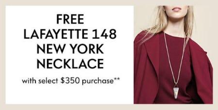 Free Lafayette 148 New York Necklace
