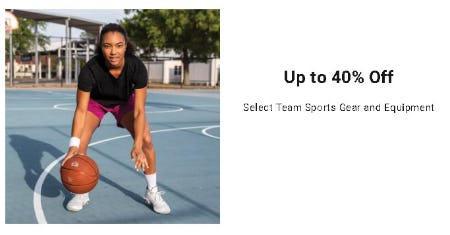 Up to 40% Off Select Team Sports Gear and Equipment from Dick's Sporting Goods