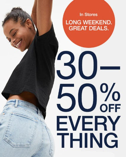 30-50% Off Everything from Gap