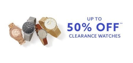 Up to 50% Off Clearance Watches