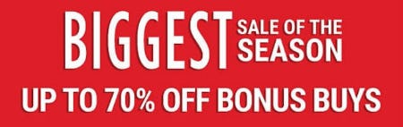 Up to 70% Off Bonus Buys