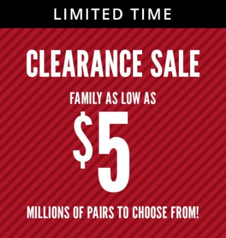 Clearance Sale from Payless ShoeSource