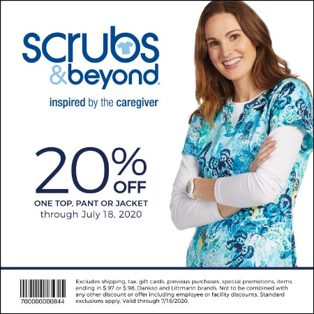 Summer Coupon from Scrubs & Beyond