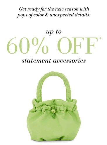 Up to 60% Off Statement Accessories from Saks Fifth Avenue