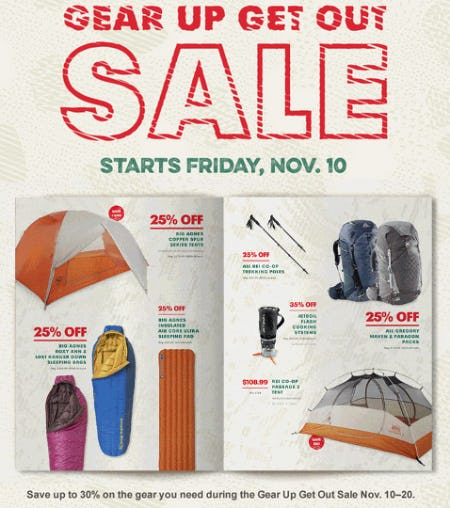 Gear Up Get Out Sale