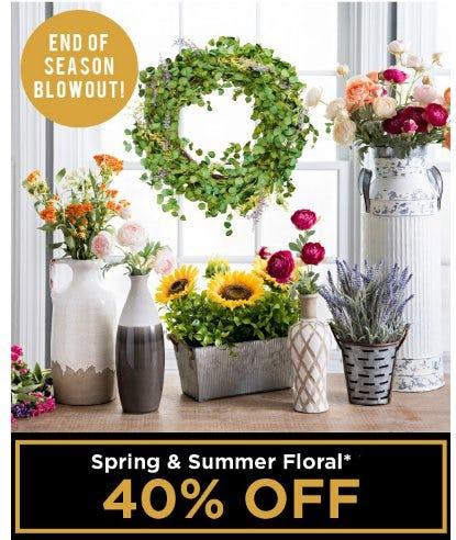 Spring & Summer Floral 40% Off from Kirkland's Home
