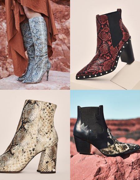 The Snake Print Boots from DSW Shoes