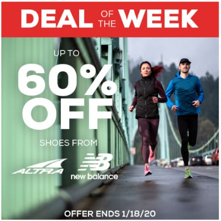 Up to 60% Off Shoes from Altra and New Balance from Sun & Ski Sports