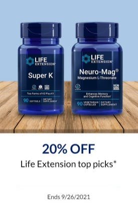 20% Off Life Extension Top Picks