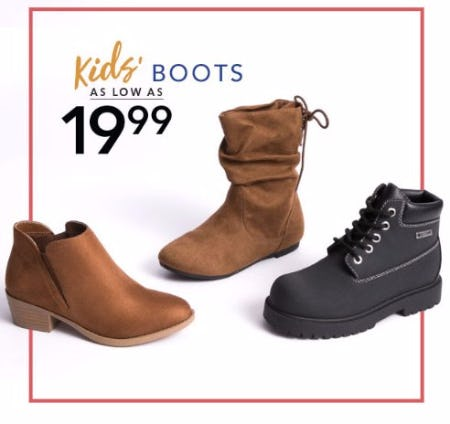 Kids' Boots as low as $19.99