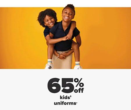 65% Off Kids' Uniforms from Belk