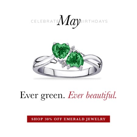 May Birthstone Jewelry Sale: 30%OFF from Rogers & Hollands Jewelers