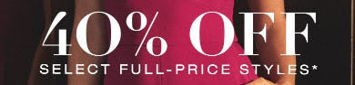 40% Off on Select Full-Price Styles from BCBG