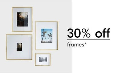 30% Off Frames from West Elm