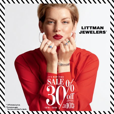 It's Bow Time Sale from Littman Jewelers