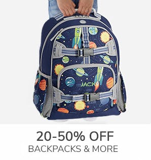 20-50% Off Backpacks & More from Pottery Barn Kids