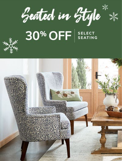 30% Off Select Seating from Pier 1 Imports