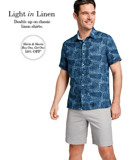 BOGO 50% Off Shirts & Shorts from JOHNSTON & MURPHY