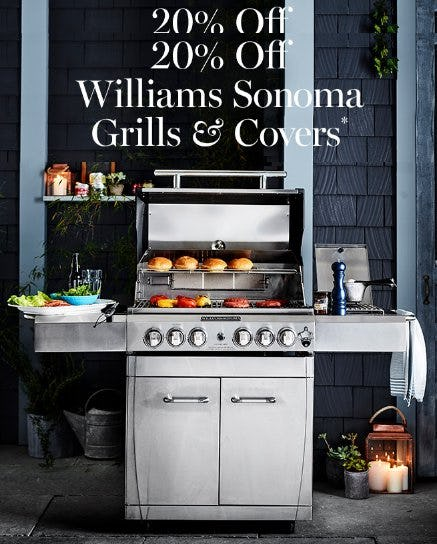 20% Off Williams Sonoma Grills & Covers