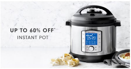 Up to 60% Off Instant Pot from Williams-Sonoma