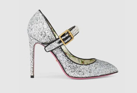 Glitter Pump with Crystals