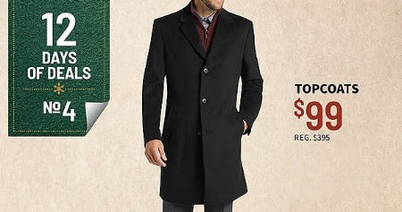 $99 Topcoats from Jos. A. Bank