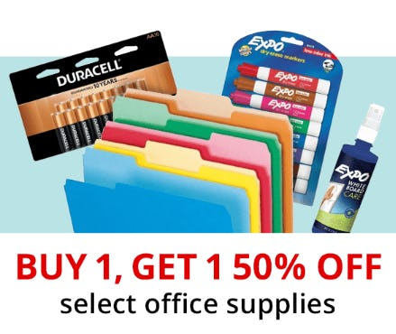 BOGO 50% Off Select Office Supplies from Office Depot