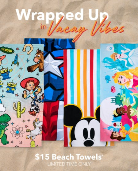 $15 Beach Towels from Disney Store