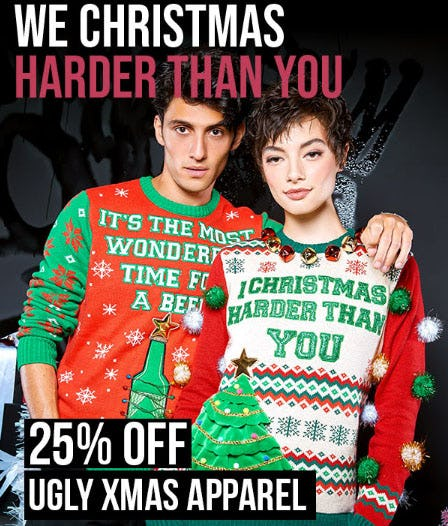 25% Off Ugly Xmas Apparel from Spencer's Gifts