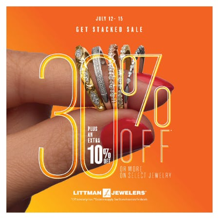Get Stacked Sale from Littman Jewelers