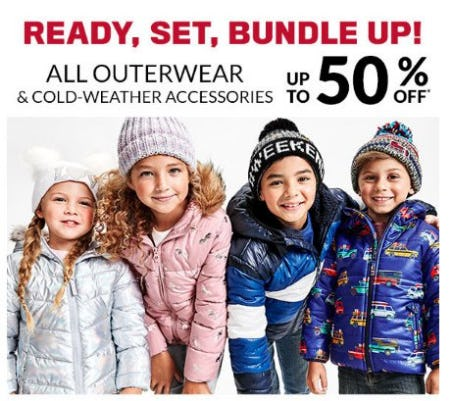 All Outerwear & Cold-Weather Accessories up to 50% Off from The Children's Place
