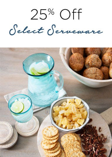 25% Off Select Serveware from Kirkland's