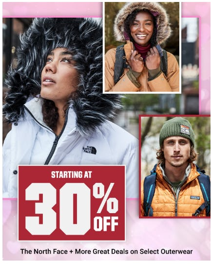 Starting at 30% Off The North Face plus More Great Deals on Select Outerwear from Dick's Sporting Goods