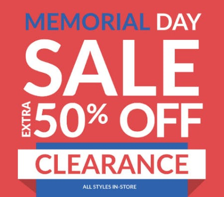 Extra 50% Off Memorial Day Sale