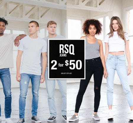 RSQ Jeans 2 for $50 from Tillys