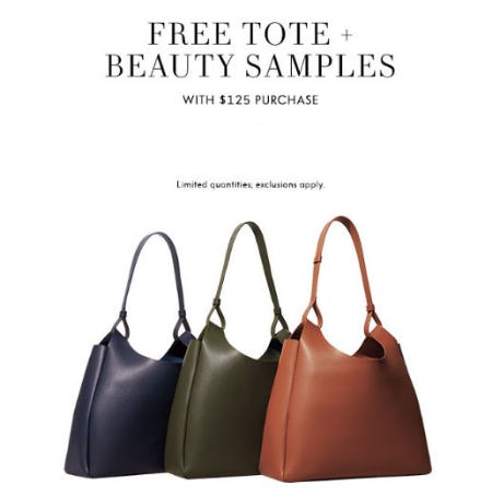 Free Tote & Beauty Samples with $125 Purchase from Neiman Marcus