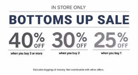 Bottoms Up Sale