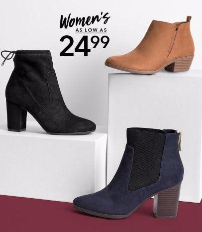 Women's as low as $24.99