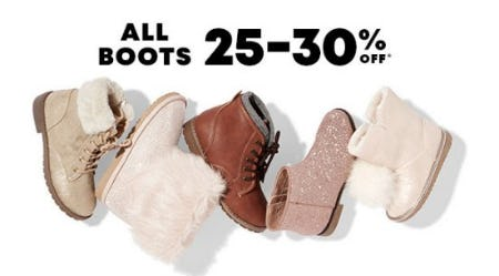 All Boots 25-30% Off from The Children's Place
