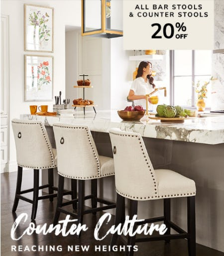 20% Off All Bar Stools & Counter Stools from Pier 1 Imports