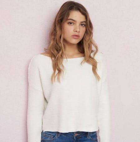 Boxy Chenille Sweater