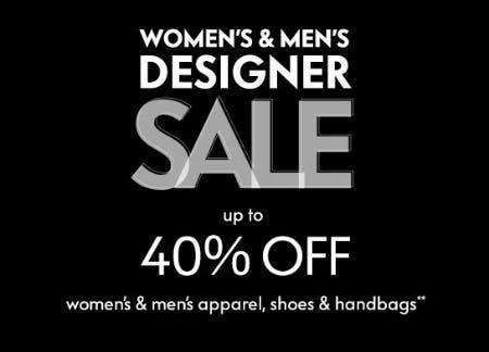 Up to 40% Off Women's & Men's Designer Sale from Neiman Marcus